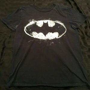 DC Comics White Batman Logo Black Medium T-Shirt
